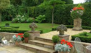 Ideas On Garden Designs Small Patio With Wooden Bench Backyard ...