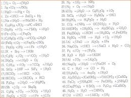 balancing equations worksheet questions activities chemistry answer key chemical 2