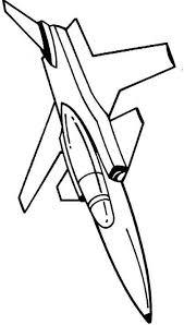 Kleurplaat Straaljager F 16
