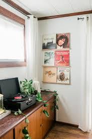 diy vinyl records shelf display dream