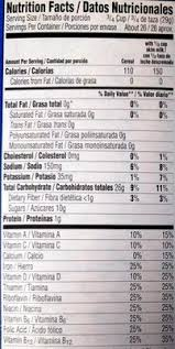 frosted flakes nutrition facts frosted flakes nutrition facts