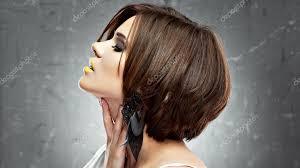 Beauty Model S Bob účes Stock Fotografie Sheftsoff 118991108