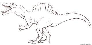 Coloriage Dinosaure Enfant Simple De Jurassic Park Dessin