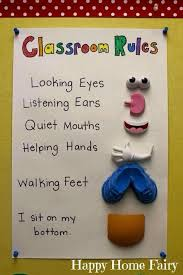 Cute Classroom Rules Chart For Early Childhood Classrooms