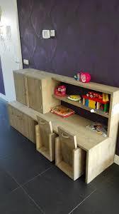 Bureauspeelgoedkast Voor Kinderen Van Steigerhout Speelhoek In