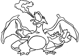 Small Picture Pokemon coloring page 006 charizard coloring pages