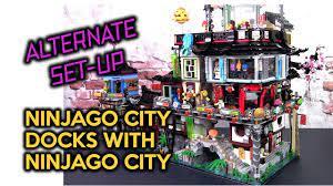 Alternative Set-up for Ninjago City Docks and Ninjago City - YouTube