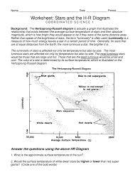 Worksheet Stars And Hr Diagram