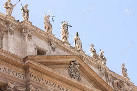Cité Du Vatican Basilique Fragments De La Place Saint Pierre Italie Rome