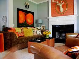 Orange And Brown Living Room Decor Burnt Orange And Teal Living Room Nomadiceuphoriacom