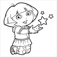 Small Picture Dora coloring pages with stars ColoringStar