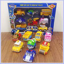 Bộ 8 xe ô tô đồ chơi Poli bền đẹp, an toàn cho bé