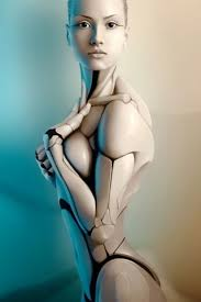 Superior Hot Female Robot Creative Render IPhone 5 Wallpaper