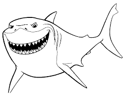 Finding Nemo Coloring Pages Bruce Coloringstar