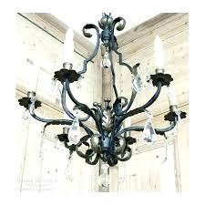 crystal and iron chandeliers white wrought iron chandelier white wrought iron crystal chandelier wrought iron and