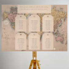 Map Seating Chart Wedding World Map Wedding Seating Plans