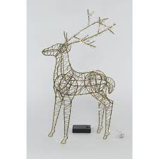 holiday living pre lit deer indoor christmas decoration