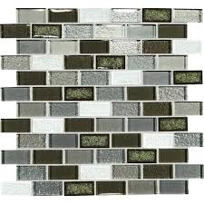 dal tile glass mosaic crystal ss le glass emerald isle blend 1 x 2 brick joint dal tile glass