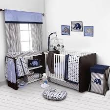 bacati elephants blue grey 10 pc crib set without per pad