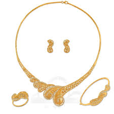 Dubai Gold Designs Catalogue Full Set A5926 Full Sets 21k Jewellery Gold Collection