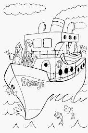 Stoomboot Cadeautjes Sinterklaas Portret Kleurplaat Stoomboot Sint
