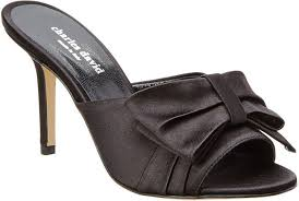 Charles David Sasha Satin Sandal Products Satin Black