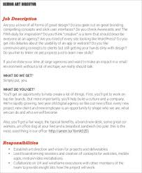 Senior Director Job Description
