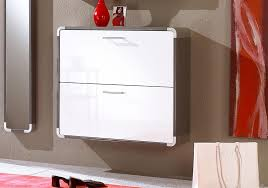 white shoe cabinet furniture. Indra 2 Door Wall Mounted Shoe Cabinet In White High Gloss With Brown And Aluminium Frame Furniture