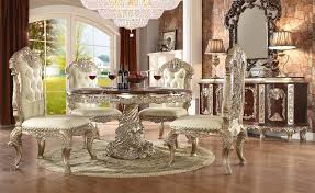 Dining Room And Living Room Classy Cleopatra Double Pedestal 48 Piece Round Dining Room Set By Homey