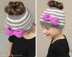 Bun Hat Crochet Pattern Awesome Kids Messy Bun Hat Crochet Pattern Daisy Cottage Designs