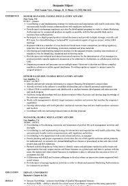 Global Regulatory Affairs Resume Samples Velvet Jobs