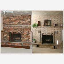 refinish brick fireplace awesome fulgurant small painted brick fireplace how to clean painted brick