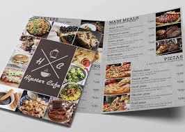 Cafe Menu Template Cafe Bifold Free Menu Template Psd Ltheme