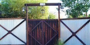 Delighful Sheet Metal Fence Corrugated Steel Western Maureen Intended Decorating Ideas