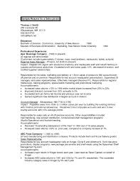 Cover Letter Business Management Resume Objectives Examples With