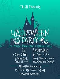 Costume Contest Flyer Template Halloween Costume Party Invitation Poster Flyer Template