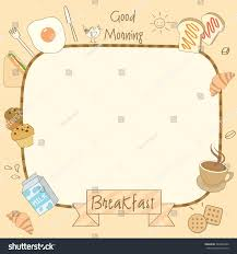 breakfast menu template vector drawing food drink breakfast menu stock vector 589242986