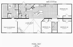 Perfect Simple 4 Bedroom House Plans Hd 4 Bedroom 2 Bath Floor Plans Simple 14 Bedroom  4