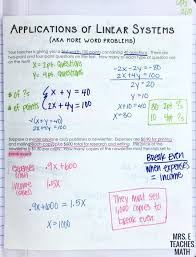 systems of equations word problems interactive notebook page for algebra 1