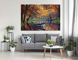 colorful autumn art landscape wall art