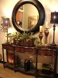 entryway furniture with mirror. british colonial decor entry table with classic round mirror entryway furniture pinterest