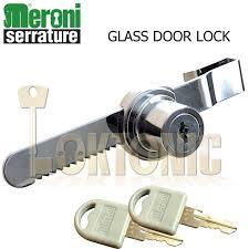 meroni ratchet glass sliding show case display door lock cabinet drawer