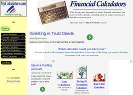 Mycalculators Com Financial Calculators Loan Retirement