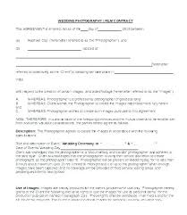 Contract Templates Word Photography Contract Template Free Wedding