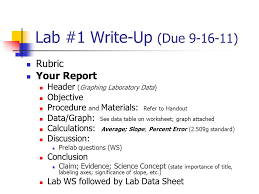 Lab #23 Write-Up (Due ) Rubric Your Report Lab Worksheet - ppt ...