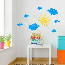 home décor items sun cloud wall decals