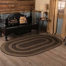 4 4 of 12 5 x8 oval farmhouse braided jute rug black tan vhc brands