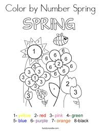 spring pictures to color.  Spring Color By Number Spring Coloring Page On Pictures To I
