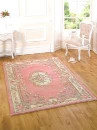 new french shabby chic light pink fl rugs wool quality traditional mats rug round