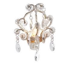 lighting treasures. opulent treasur glass accented chandelier night light page 1 u2014 qvccom lighting treasures